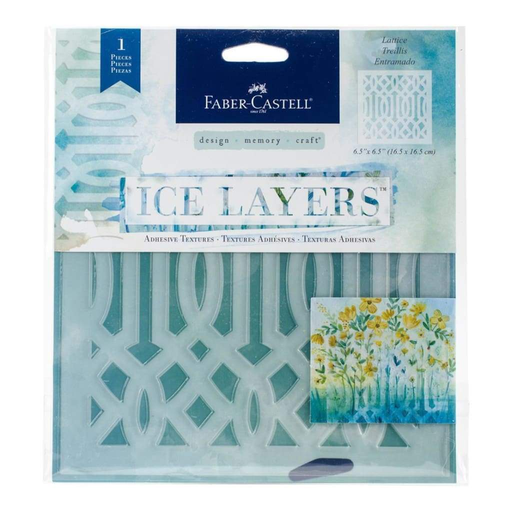Faber Castell - Ice Layers Adhesive Textures 6.5inch X9.75inch - Lattice