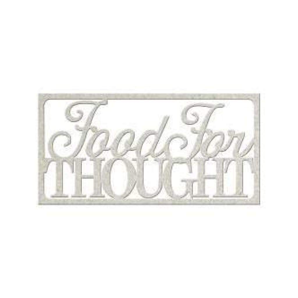 Fabscraps - Die-Cut Gray Chipboard Word Fabscraps - Die-Cut Gray Chipboard Word Food For Thought 4Inch X2inch