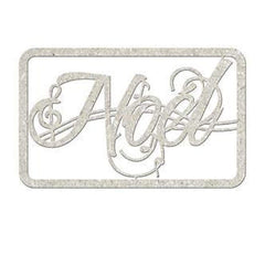 Fabscraps - Die-Cut Gray Chipboard Word Noel 5X2.5In