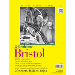 Strathmore Bristol Vellum Paper Pad 9in x 12in - 20 Sheets