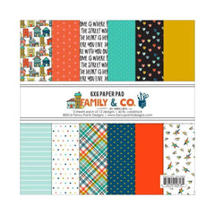 Fancy Pants - Fancy Pants Designs Single-Sided Paper Pad 6 inch X6 inch 24 pack Family & Co., 12 Designs/2 Each