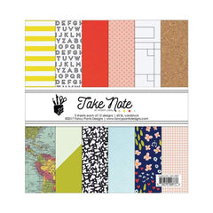 Fancy Pants Designs Single-Sided Paper Pad 6 inch X6 inch 36 pack Take Note, 18 Designs/2 Each