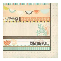 Fancy Pants Designs - Summer's End - Strips 12X12 Double-Sided Paper