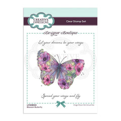 Creative Expressions Designer Boutique Collection Stamp Set A6 - Blossom Butterfly
