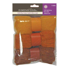 Feltworks Roving Trio Pack 1.58oz Gold Rust