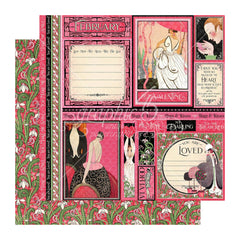Graphic 45 - Fashion Forward Double-Sided Cardstock 12in x 12in - February