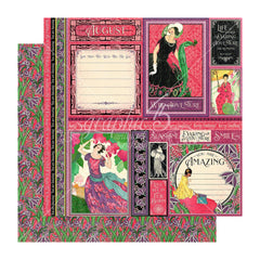 Graphic 45 - Fashion Forward Double-Sided Cardstock 12in x 12in - August