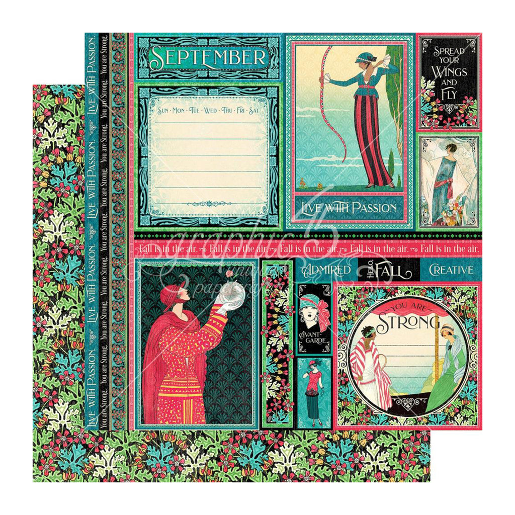 Graphic 45 - Fashion Forward Double-Sided Cardstock 12in x 12in - September