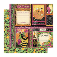 Graphic 45 - Fashion Forward Double-Sided Cardstock 12in x 12in - October