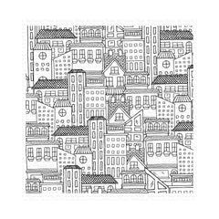 My Favorite Things Background Cling Rubber Stamp 6in x 6in City Block