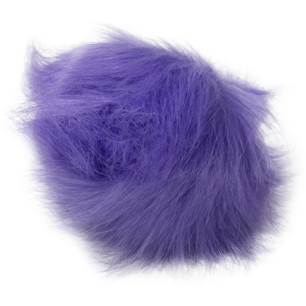 Pepperell - Faux Fur Pom With Loop - Purple