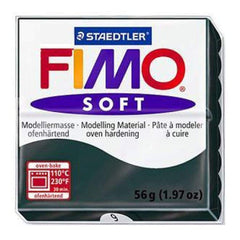 Fimo Soft Polymer Clay 2 Ounces - Black