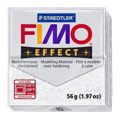 Fimo Soft Polymer Clay 2 Ounces - Glitter White