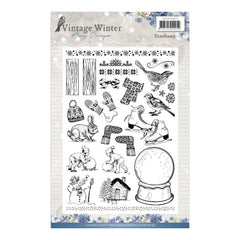 Find It Amy Design Vintage Winter Clear Stamps Icons