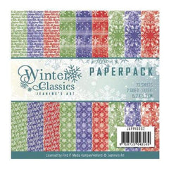 Find It Jeanines Art Double-Sided Paper Pack 6 inch x6 inch Winter Classics