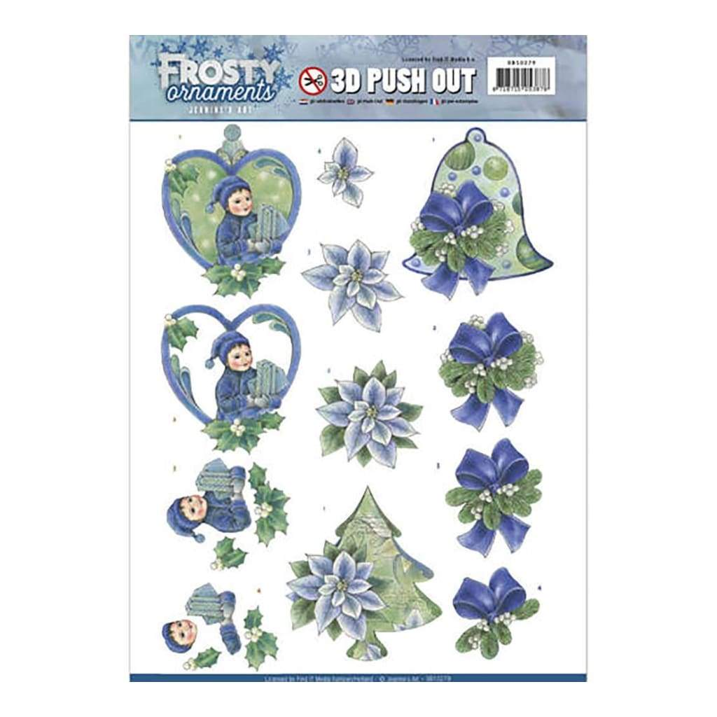Find It - Jeanines Art - Punchout Sheet - Frosty Ornaments