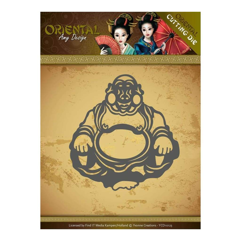 ADD10140 AMY DESIGN ORIENTAL CUTTING DIE HAPPY BUDDHA