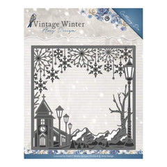 Find It Trading Amy Design Vintage Winter Die Square Village Frame
