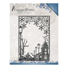 Find It Trading Amy Design Vintage Winter Die Straight Village Frame