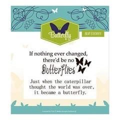 Find It Trading Clear Stamp 2 Inch X3 Inch Butterfly