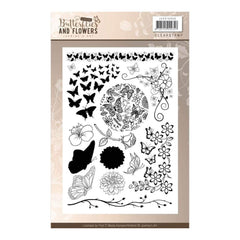 Find It Trading Jeanines Art Clear Stamps Classic Butterflies & Flowers