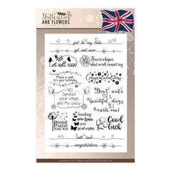 Find It Trading Jeanines Art Clear Stamps Text (English)