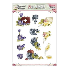 Find It Trading Precious Marieke Punchout Sheet Butterfly & Wildflower, Seasonal Flowers