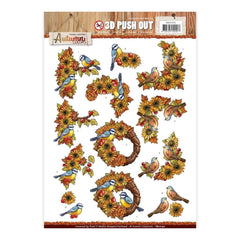 Find It Yvonne Creations Autumn Colors Punchout Sheet Birds