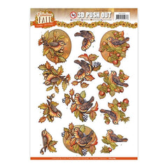 Find It Yvonne Creations Fabulous Fall Punchout Sheet - Fall Birds