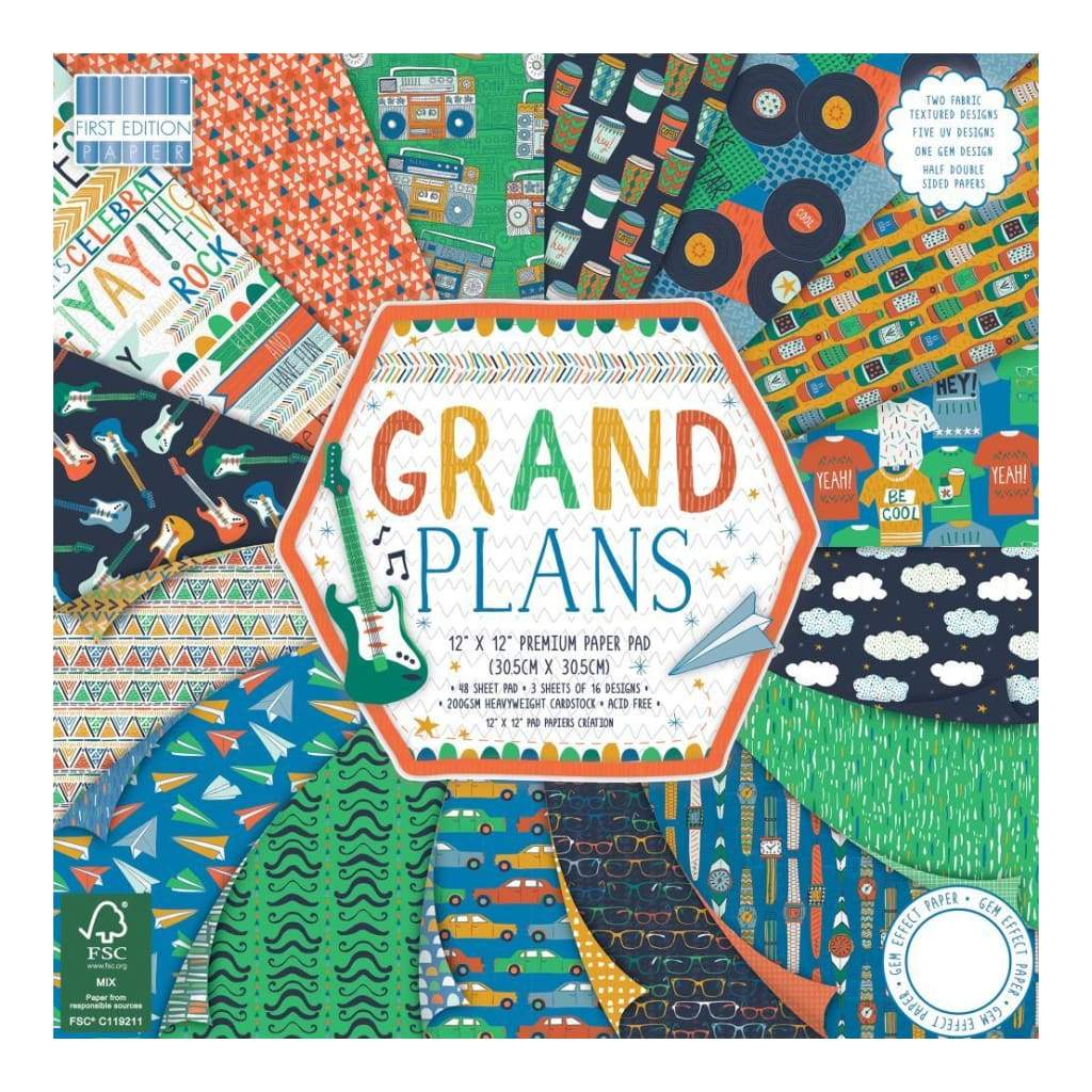 First Edition Paper Pack 12inch X12inch 48 pack Grand Plans