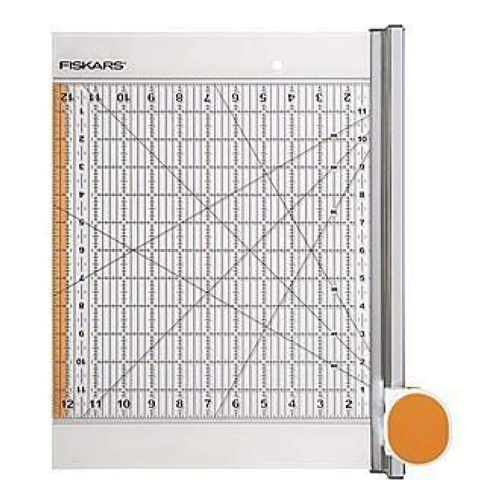 Fiskars Rotary Ruler Combo For Fabric Cutting 12In.X12in.