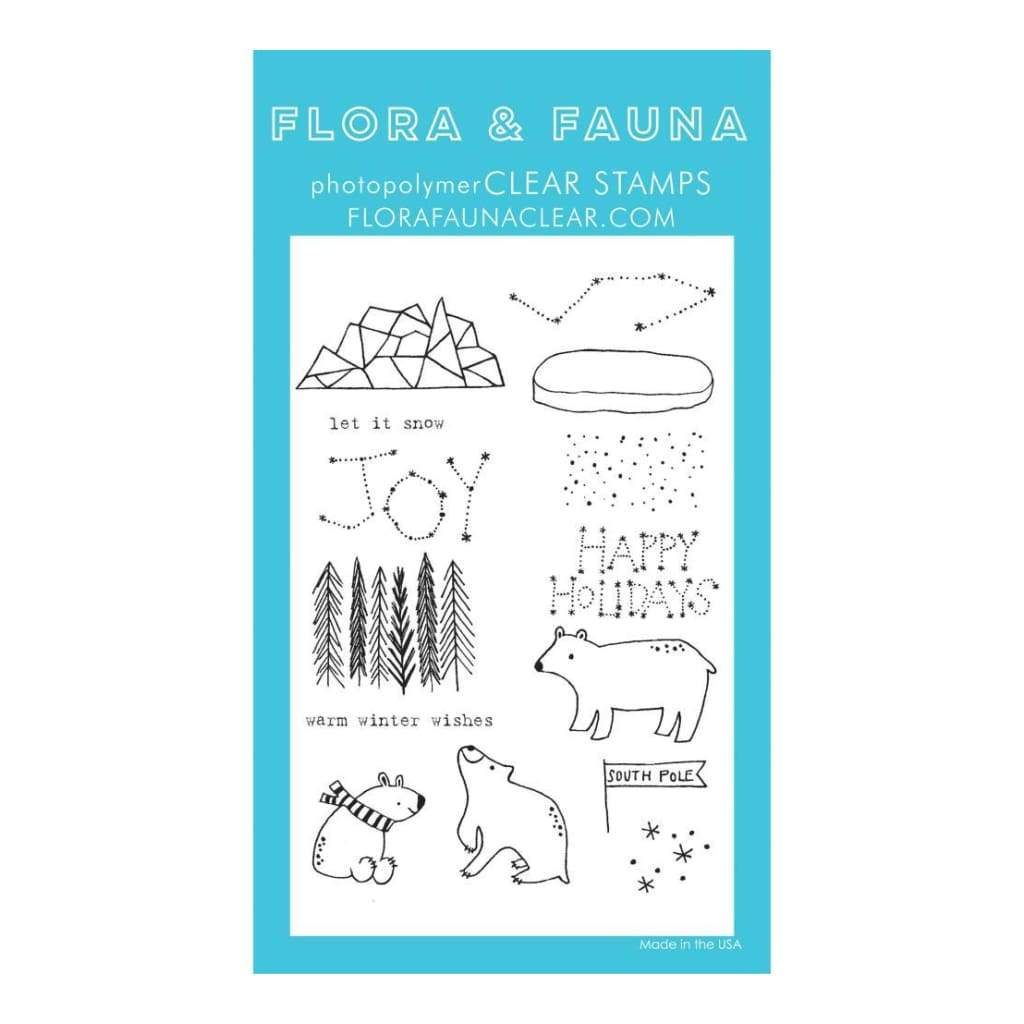 Flora & Fauna Clear Stamps 4 inch X6 inch Artic Starry Night