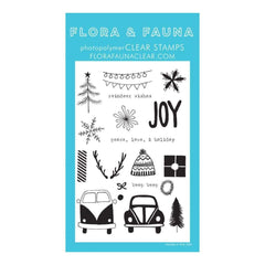 Flora & Fauna Clear Stamps 4 inch X6 inch Driving To The Holidays