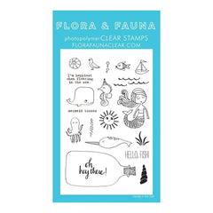 Flora & Fauna Clear Stamps 4 inch X6 inch Mermaid Kisses