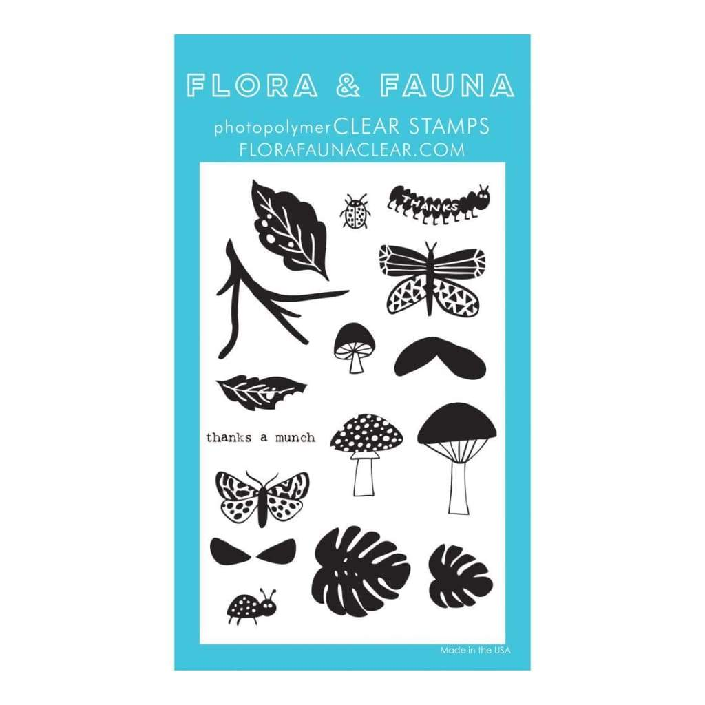 Flora & Fauna Clear Stamps 4 inch X6 inch Thanks A Munch