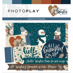 PhotoPlay - For The Love Of Winter Ephemera Cardstock Die-Cuts
