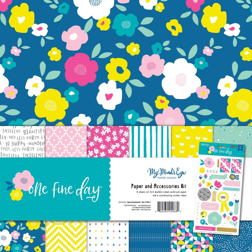 My Minds Eye Paper & Accessories Kit 12in x 12in One Fine Day