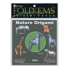 Fold 'Ems Origami Paper 6In.X6in. 24 Pack Zoo World
