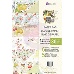 Prima Marketing Double-Sided Paper Pad A4 30 pack Fruit Paradise, 6 Designs/5 Each