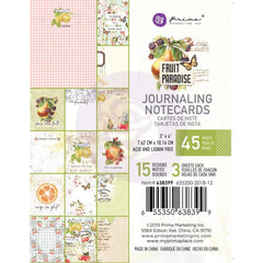 Prima Marketing Fruit Paradise Journaling Card 3 inch X4 inch 45 pack