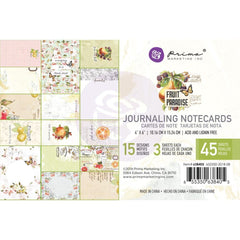 Prima Marketing Fruit Paradise Journaling Card 4 inch X6 inch 45 pack