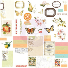 Prima Marketing Fruit Paradise Cardstock Ephemera 44 pack with Foil Details