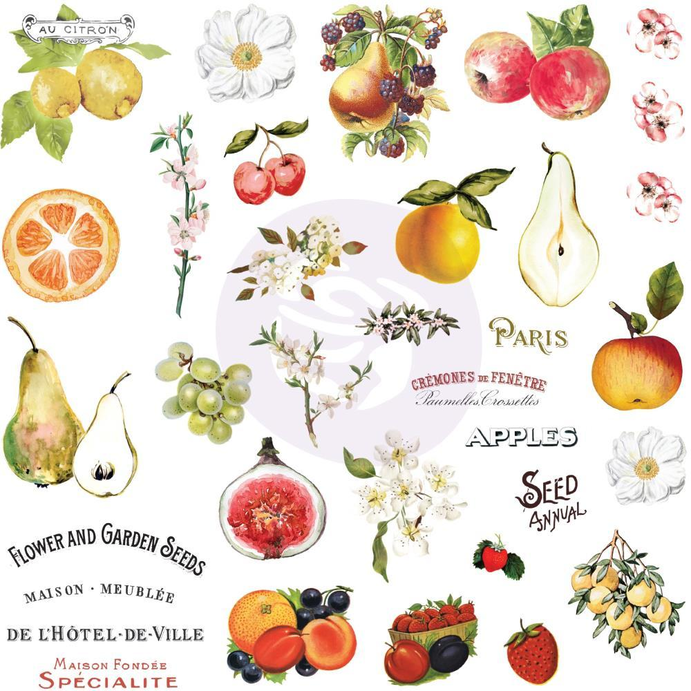 Prima Marketing Fruit Paradise Ephemera with Stickers 70 pack with Foil Details