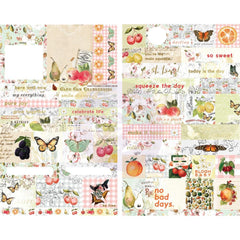 Prima Marketing Fruit Paradise Stickers 55 pack Quotes & Words