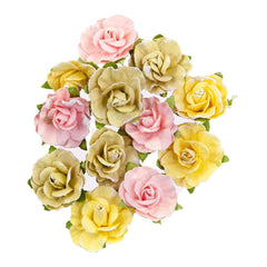 Prima - Mulberry Paper Flowers - Sweet Grapefruit, Fruit Paradise 12 pieces
