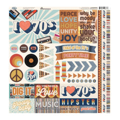 Reminisce Collection - Good Vibes Elements Stickers 12 inchX12 inch