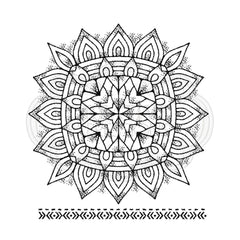 Woodware - Clear Singles Stamp - Mandala Two 4 in x 4 in.