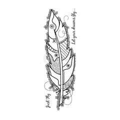 Woodware - Clear Singles Stamp - Large Feather 8 in x 2.6 in.