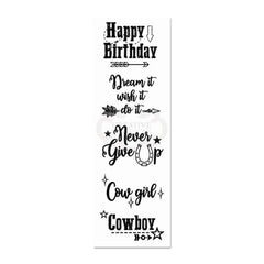 Woodware - Clear Singles Stamp - Wild West Greetings 8 in x 2.6 in.