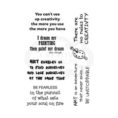 Woodware - Clear Singles Stamp - Creative Quotes 4 in x 6 in.